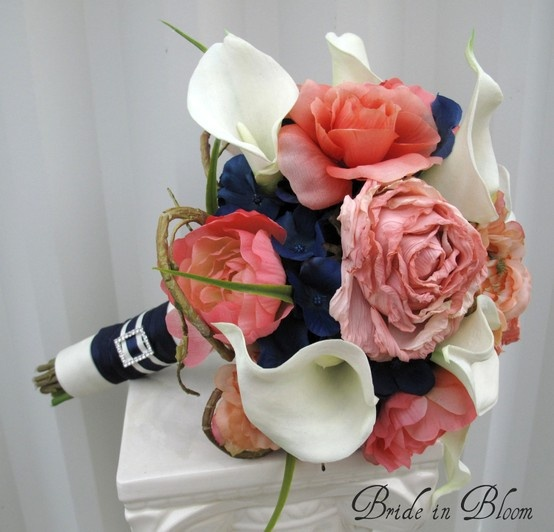 62 best coral wedding ideas images on pinterest wedding colors coral wedding ideas wedding bouquet coral navy white mightylinksfo