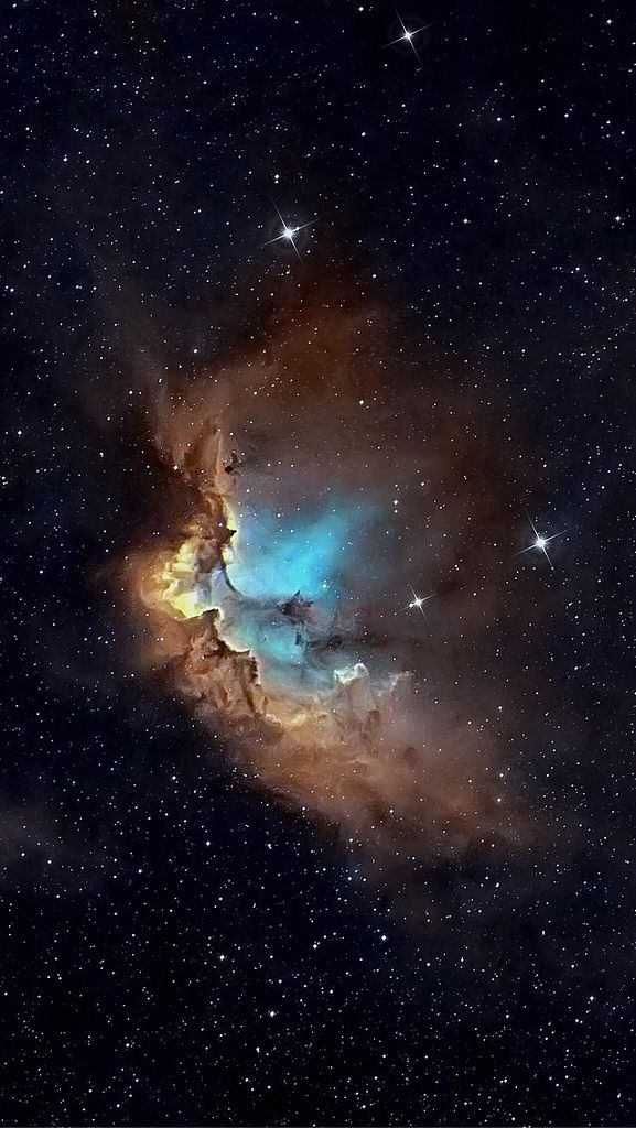 ˚NGC7380 The Wizard Nebula is an open cluster discovered by Caroline Herschel in 1787. This reasonably large nebula is located in Cepheus.