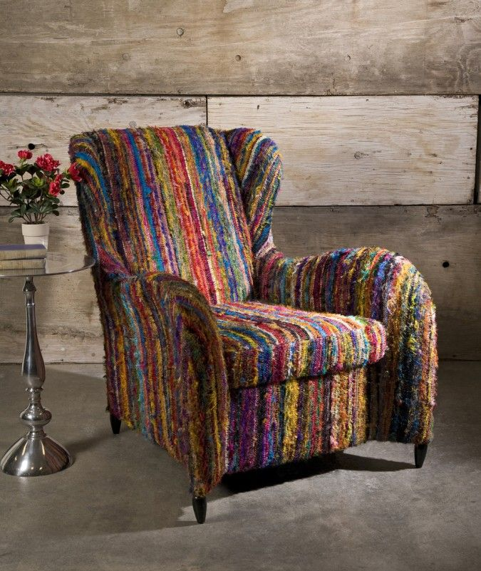(For my study? Its colorful and comfy looking like an old bright sweater--snuggle in with a good book.)--arm chairs bold prints - Google Search