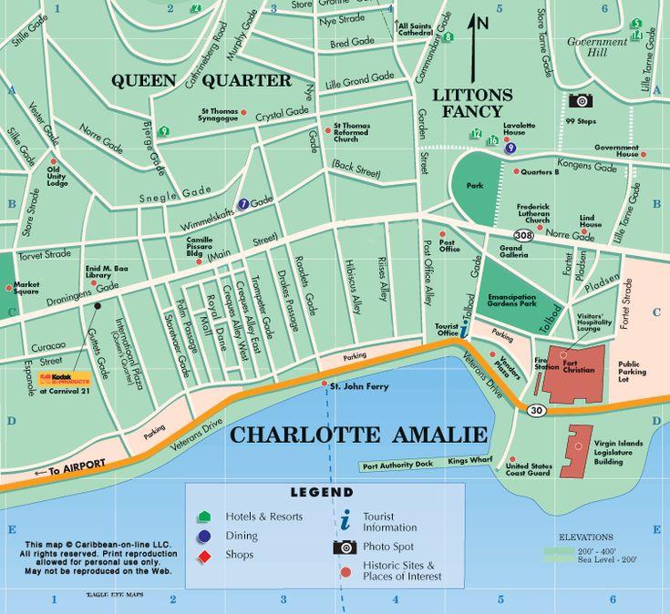 Charlotte Amalie Map St Thomas U S Virgin Islands Favorite Places Pinterest Virgin Islands Caribbean And Cruises