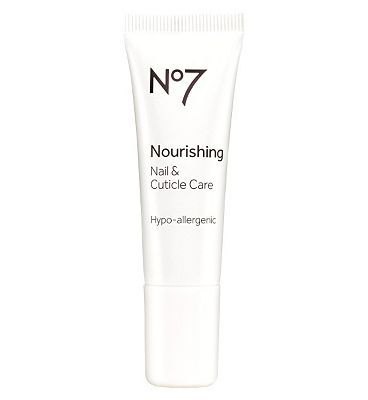 NO7 Nourishing Nail Cuticle Care 10144065 24 Advantage card points. No7 Nourishing Nail Cuticle Care provides continuous moisture to nourish and soothe while regular massage promotes nail growth. FREE Delivery on orders over 45 GBP. (Barcode  http://www.MightGet.com/april-2017-1/no7-nourishing-nail-cuticle-care-10144065.asp