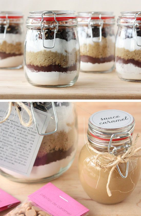 Brownies in a Jar, so gonna do this for my mom and dad + a lot of other stuff from this site