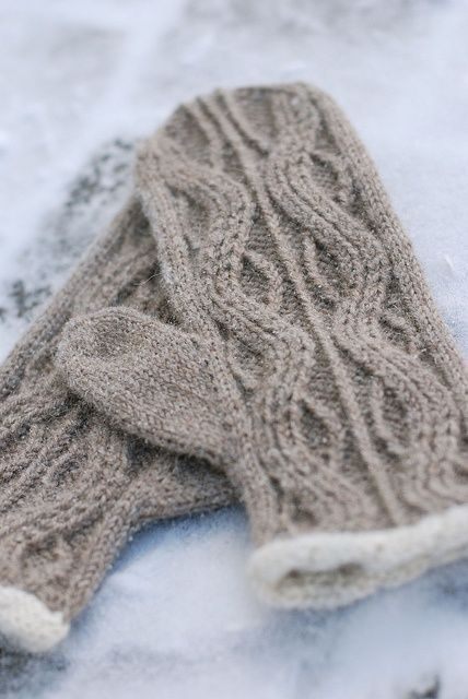 beautiful warm knitted mittens...