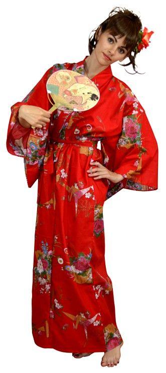 халат-кимоно из хлопка, сделано в Японии