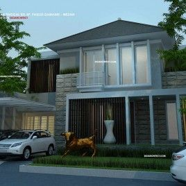 desain rumah modern minimalis 2 lantai type 500 m2   denah