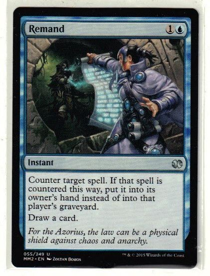 2015 Magic the Gathering Modern Masters - Remand Uncommon TCG Game Card #WizardsoftheCoast