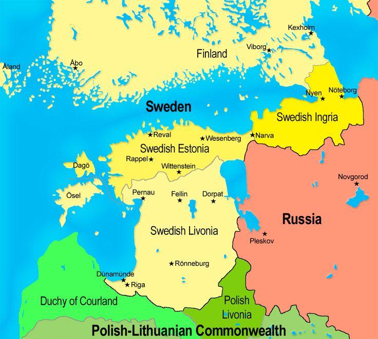 Polish and Swedish lands in the Baltics - 17th century