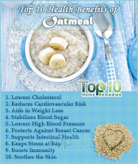 Top 10 Health Benefits of Oatmeal