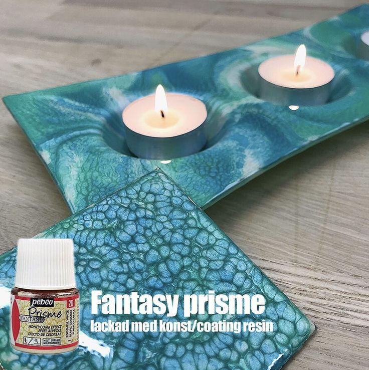 Fantasy Prisme! Helt fantastisk färg. Skapa enkelt spännande mönster, enkelt.  På bilden är färgen lackad med resen, närmare bestämt Konst/Coatingresin. Perfekt att täcka med för att få stort djup på tavlor, möbler, konst, färg och mycket annat. Både inomhus och utomhus.  Se mer kreativa produkter hos oss. www.wsochcompany.se