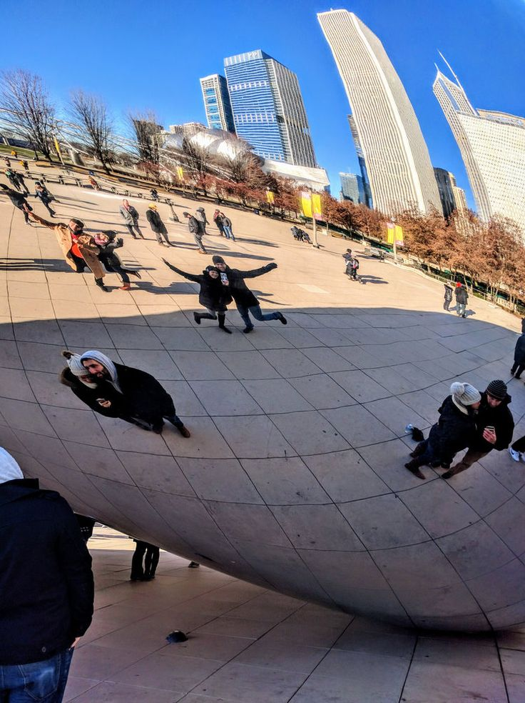 First Encounter with Chicago's Millennium Park - Couple's Selfie at Cloud Gate