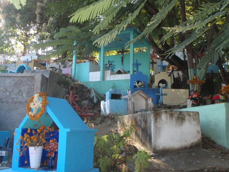 Blue graveyard - Mexican cemetery