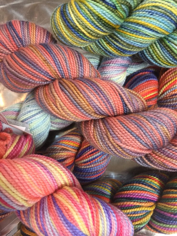 Love these spring colours of Koigu KPPPM