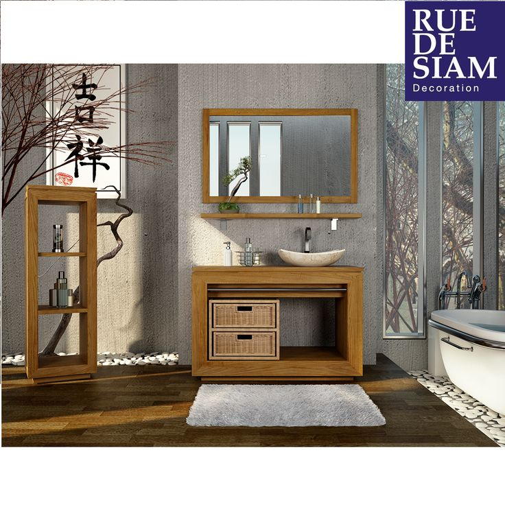 12 best salle de bain en teck rue de siam images on pinterest teak bathroom bathroom and belle. Black Bedroom Furniture Sets. Home Design Ideas