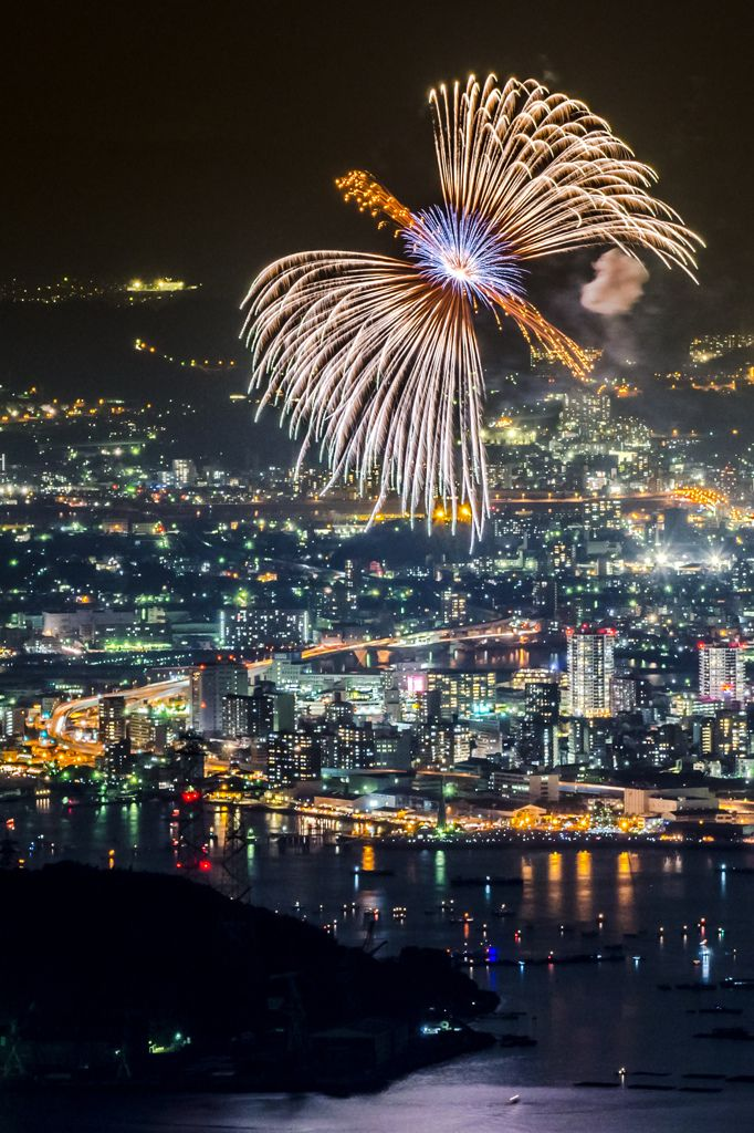 Fireworks Display, Hiroshima, Japan