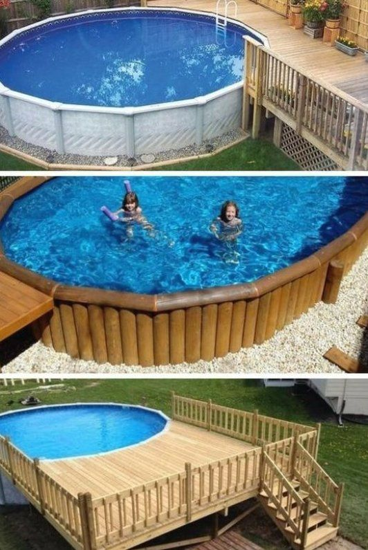 Wie Man Ein Deck Um Einen Pool Herum Baut Haus Dekorationen Decor Ideas Decorating Ideas Diy Swimming Pool Jacuzzi Outdoor Building A Deck