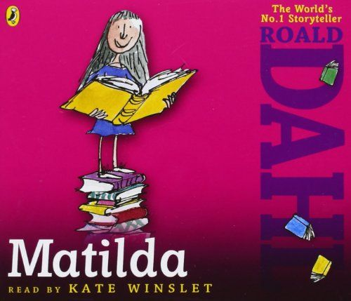 The Boy-o's LOVED this, and Kate Winslet sounded fantastic! Matilda (Audio Book) by Roald Dahl http://www.amazon.co.uk/dp/0141348348/ref=cm_sw_r_pi_dp_H-lkvb012FXCN