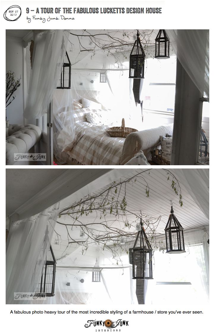 What an amazing bedroom. This photo heavy tour of a Design House will blow you away! Visit at: http://www.funkyjunkinteriors.net/