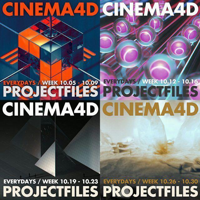 SHOPLINK IN BIO (sellfy.com) - Cinema 4D Scene files (.c4d) - Everyday October 2015 week 2-4 / Just €1.99 per set #c4d #cinema4d #progressbeforeperfection #projectfile #c4dart #maxon #sellfy #onlinesale #onlineshop #3dart