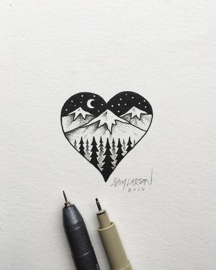 Resultado de imagen para handgemachte Natur Grußkarten mit Zeichnungen pintere