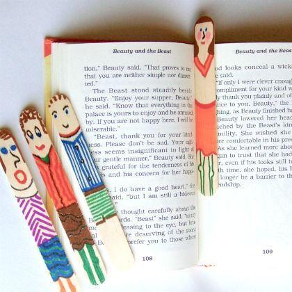 Craft stick bookmarks! ^_^