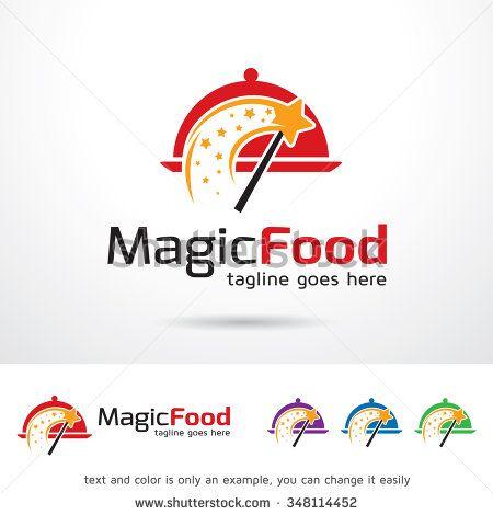 Magic Food Logo Template Design Vector - stock vector