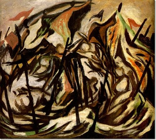 best jackson pollock paintings images pollock  jackson pollock composition figures and banners painting