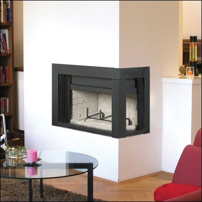 majestic b36 corner wood burning fireplace | cmjfireplaces.com