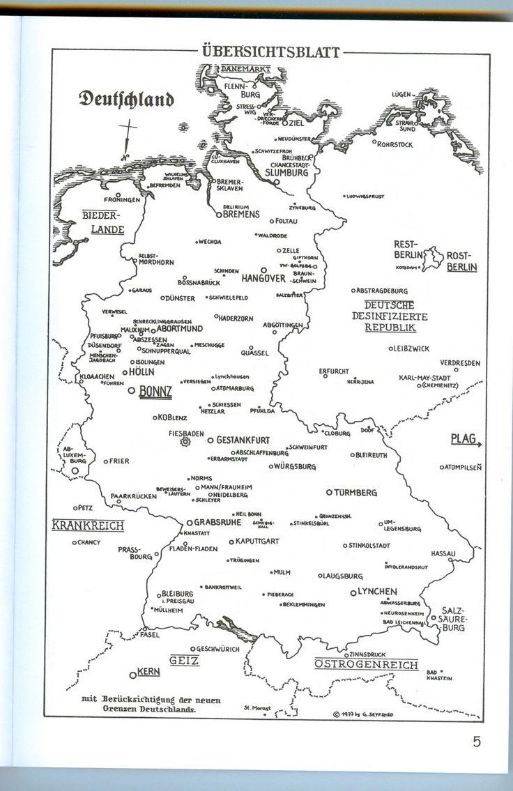 Gerhard Seyfried - Deutschlandkarte