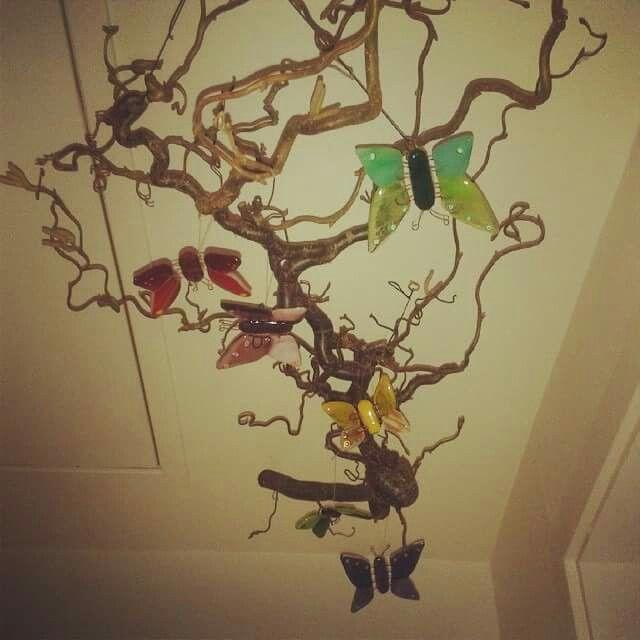Uro med glas-sommerfugle