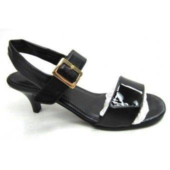 Nice, sort sandal