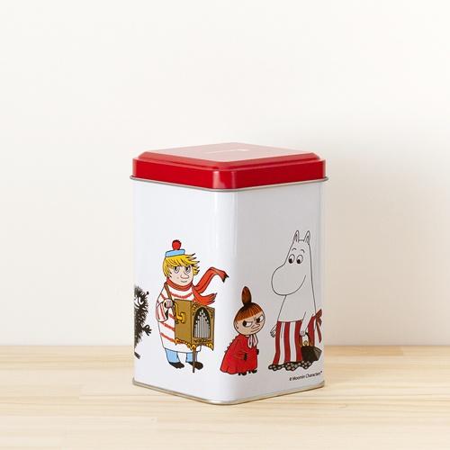 Moomin(Muumi)/ムーミン/ティン缶(S)/ホワイト×レッド