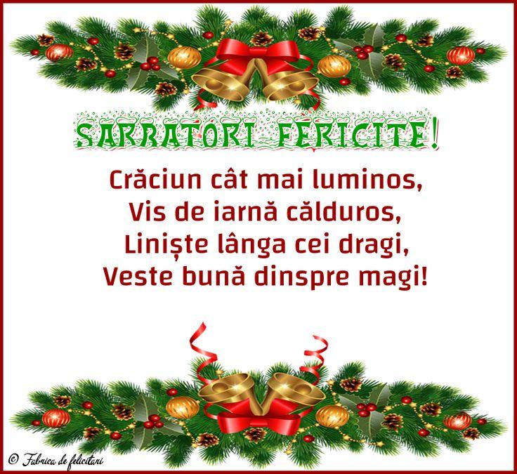 Crăciun cât mai luminos,  Vis de iarnă călduros,   Liniște lânga cei dragi,  Veste bună dinspre magi!