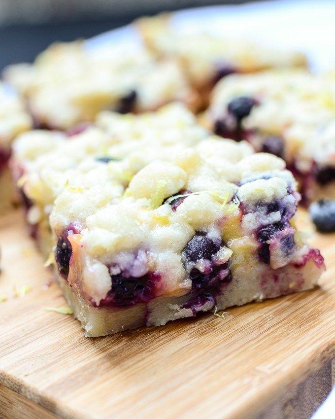 Lemon Blueberry Shortbread Bars – #Bars #Blueberry…