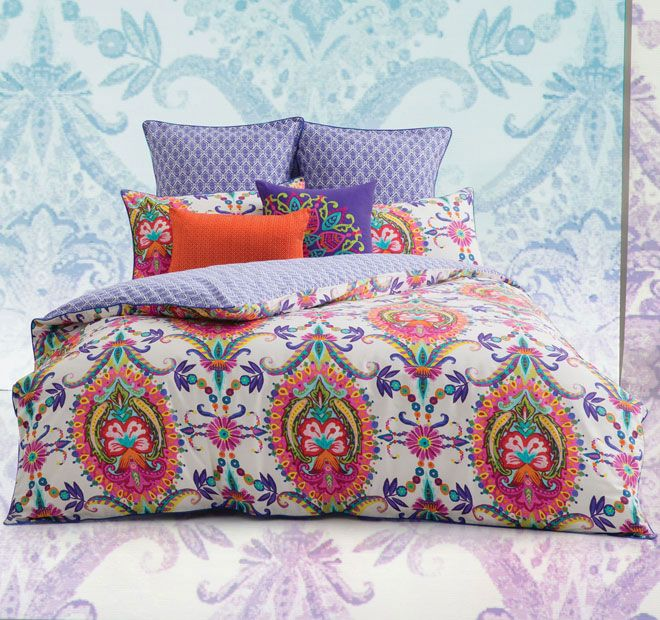 Nice Quilt Cover Set Kas Doona Duvet King Size Layla Multi 2 X Pillowcases ON  SALE A