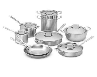 All-Clad d5 Brushed Stainless-Steel 15-Piece Cookware Set #WilliamsSonoma