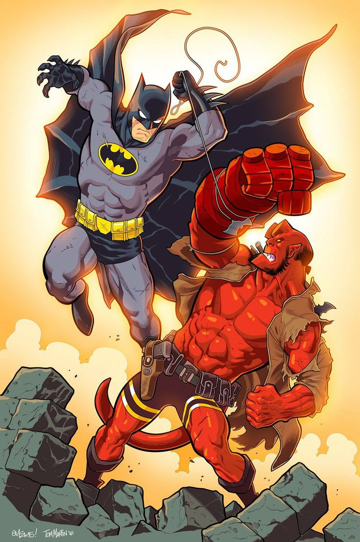 Batman vs. Hellboy