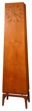Danish Modern Teakwood Grandfather Clock - modern - Clocks - 1stdibs// if I was ever going to have a grandfather clock