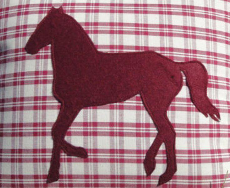 Pillow with horse appliquè You can find it in my Etsy shop at https://www.etsy.com/it/shop/RomantikPony?ref=hdr_shop_menu