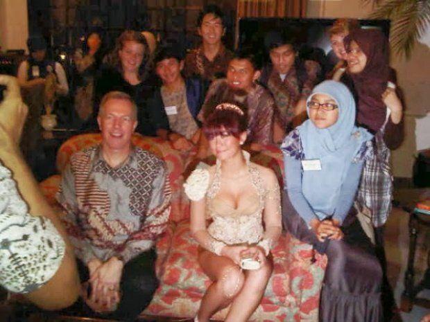 Agnes Monica di kediaman Duta Besar Amerika di Indonesia