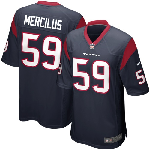NFL Nike Whitney Mercilus Houston Texans 2012 Draft Game Jersey