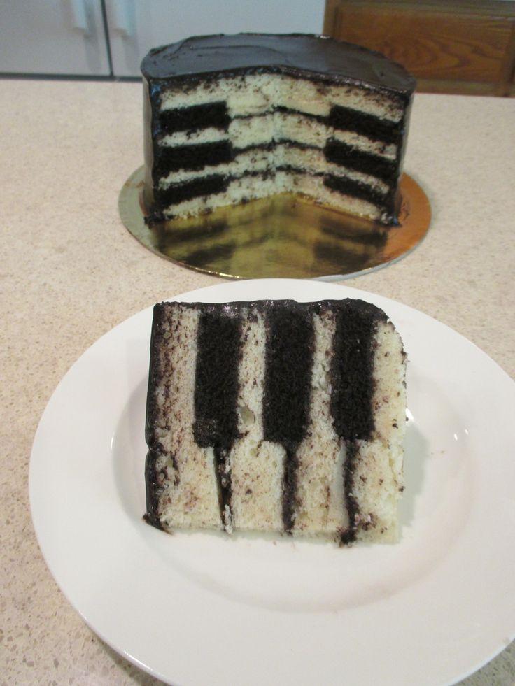 Piano Key Cake