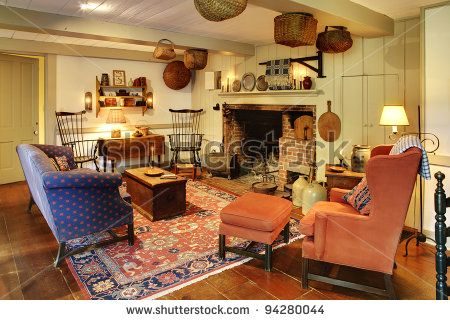 127 best colonial decorating ideas images on pinterest for Colonial living room decorating ideas