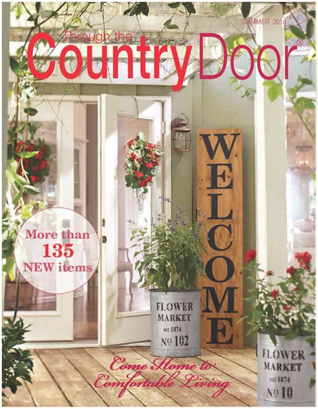 Request a free Through the Country Door catalog, with all sorts of home decor somewhere in between country and contemporary.