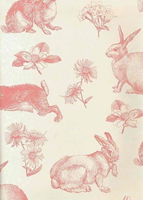 Interior Place - White Pink AT4260 Bunny Toile Wallpaper, 20.40 £ (http://www.interiorplace.com/white-pink-at4260-bunny-toile-wallpaper/)