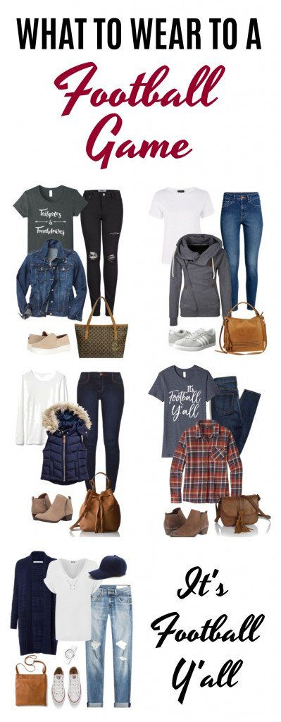 It's game day and you're wondering what to wear to a football game! Look no further ladies. We have the scoop and the cutest outfit ideas for a night under the stadium lights. #whattowear #outfitideas #falloutfits