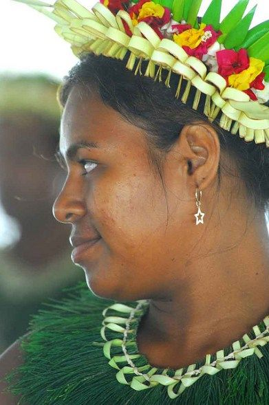 A native girl from Kiribati