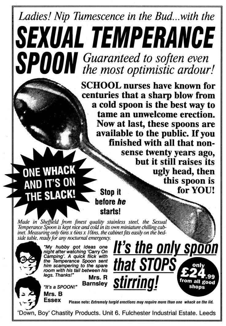 This is the funniest erection tamer gadget I have ever heard about! Bet guys are glad this invention isn't popular in this century. Too funny! WACK-A-COCK!