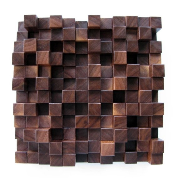wood wall tile - I would do a whole wall with these...