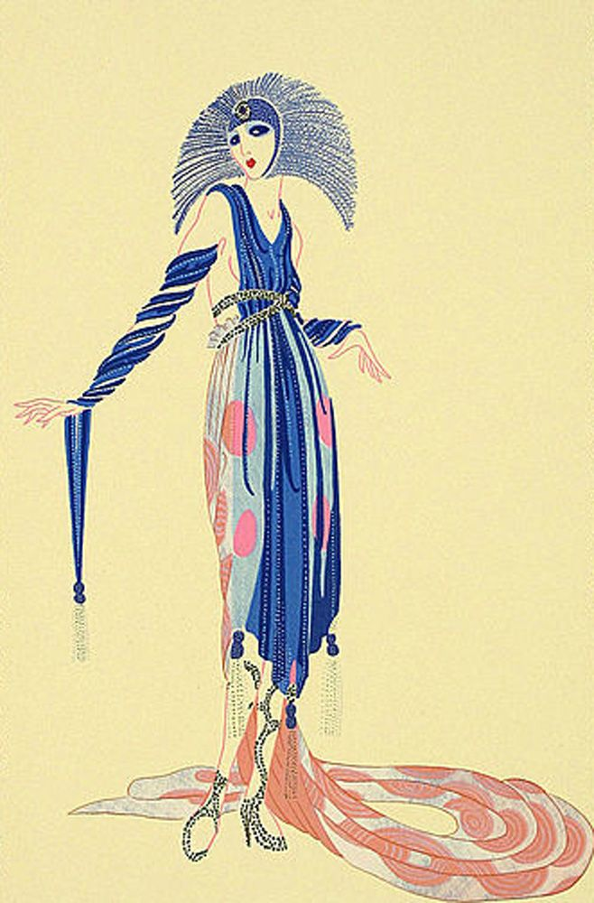 "ERTE ""LA PRETENTIESE AP 1979"" Limited Edition Print Lithograph on Somerset Paper Size: 21 x 15 in  