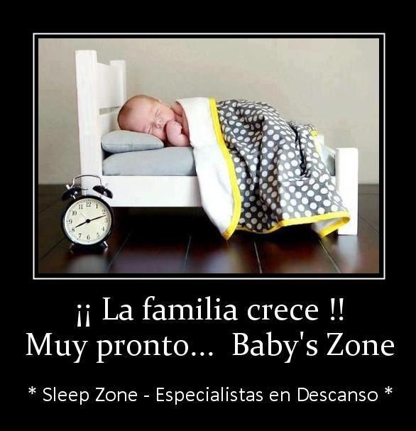 Nos encontramos emocionados de poder adelantaros esta fantástica noticia, nace una nueva sección en Sleep Zone, llega Baby's Zone (colchones de cuna, kits canguros, almohadas especiales para bebé y niñ@S, ... y mucho más). Muy pronto, en tu tienda especializada en descanso del sur de Gran Canaria.